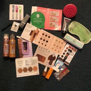 Beauty stash shades (light- deep) samples